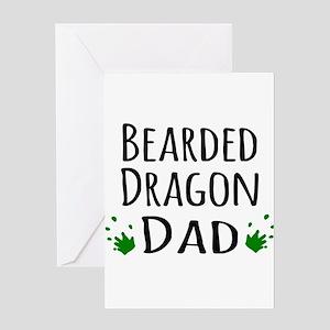 Bearded Dragon Dad Greeting Cards