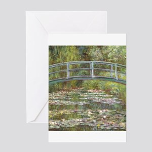 Monet Bridge over Water Lilies Greeting Cards