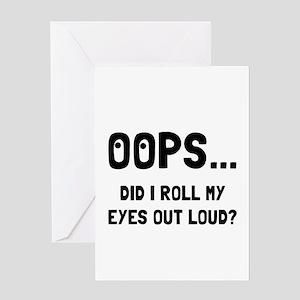 Eye Roll Greeting Cards