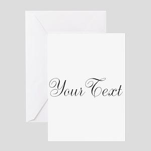Personalizable Black Script Greeting Cards