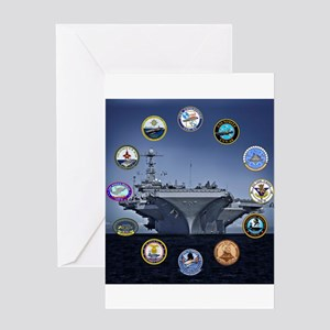 US Navy Nuclear Carrier Fleet Greeting Cards
