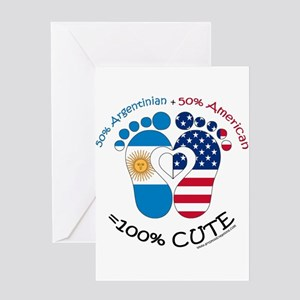 Argentinian American Baby Greeting Cards