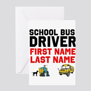 School Bus Driver Greeting Cards