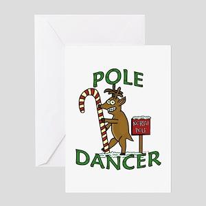 Funny Dancer Christmas Reindeer Pun Greeting Cards