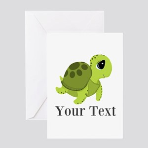 Personalizable Sea Turtle Greeting Cards