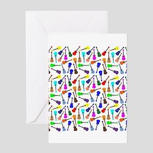 Ukuleles Greeting Cards