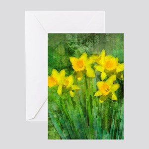 Daffodil Art Greeting Card