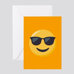 Sunglasses Emoji Greeting Card