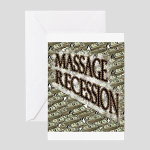 Massage Recession Greeting Card