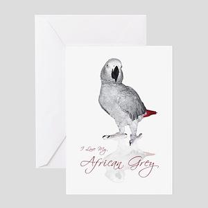 i love my african grey Greeting Card