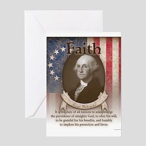 George Washington - Faith Greeting Cards