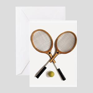 tennis rackets , sports, ballgames, Greeting Cards
