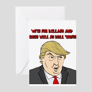 Trump Toupee Humor Greeting Cards