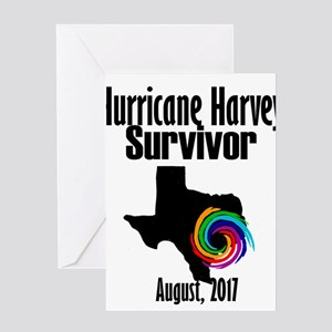 Hurricane Harvey Survivor 2017 Greeting Cards