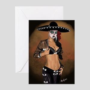 Mariachi Pin-up Art Greeting Card
