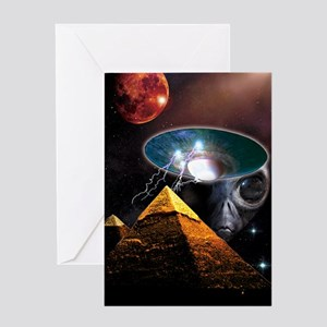 Ancient Aliens Greeting Card