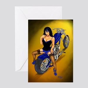 La Belleza Latina Pin-up Greeting Card
