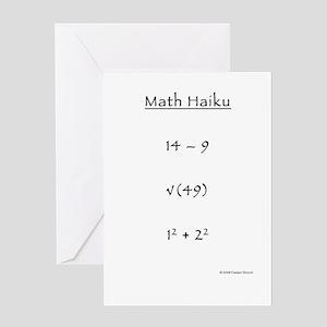 Math Haiku Greeting Cards