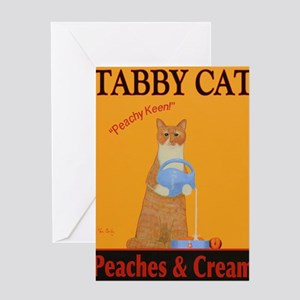 Tabby Cat Peaches and Cream Greeting Card