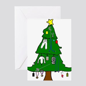 Fencer's Xmas Tree Greeting Cards (Package of Gree