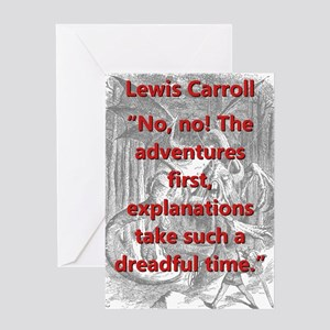 No No The Adventures First - L Carroll Greeting Ca