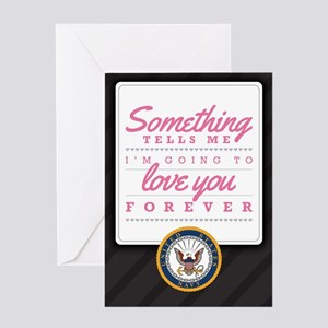 Navy Love You Forever Greeting Card