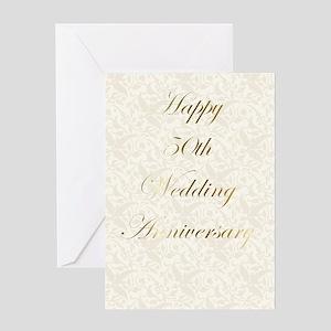 50th Wedding Annivesary Greeting Card