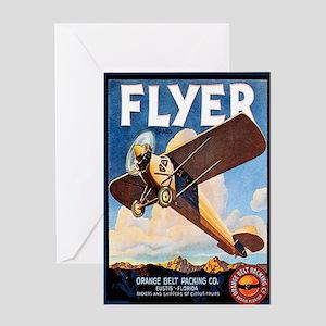 Vintage Airplane Greeting Card