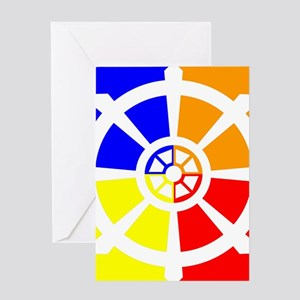 Dharma Wheel Greeting Card