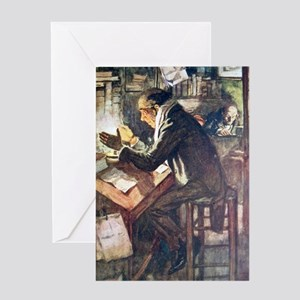 Scrooge & Bob Cratchit Greeting Card