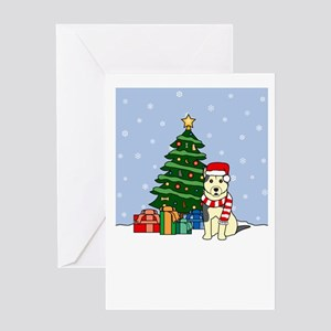 Malamute Howling Holiday Greeting Card