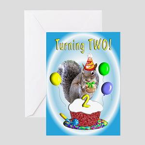 Boy 2nd Birthday Greeting Card