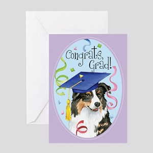 Australian Shepherd Graduate Greeting Card