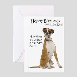 Boxer Birthday Cards