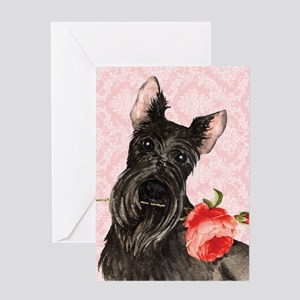 Scottish Terrier Rose Greeting Card