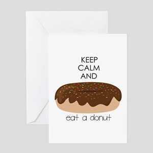 Eat A Donut Greeting Cards