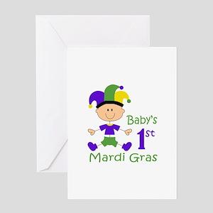 BABYS FIRST MARDI GRAS Greeting Cards