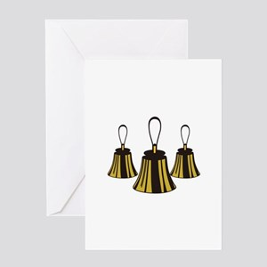 Three Handbells Greeting Cards