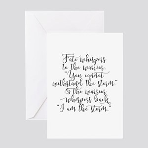 Fate Whispers Greeting Cards