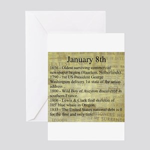 January 8th Greeting Cards