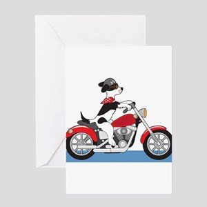 Dog Motorcycle Greeting Card