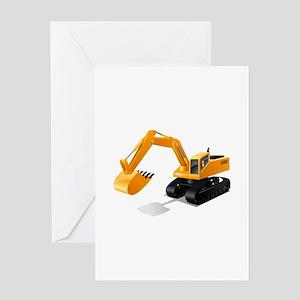 Excavator Greeting Cards