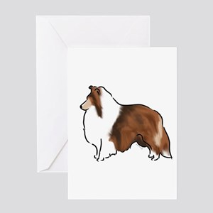 sable sheltie Greeting Cards