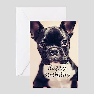 Birthday French Bulldog Greeting Card