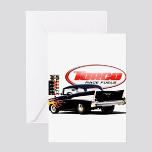 57 Chevy Dragster Greeting Card