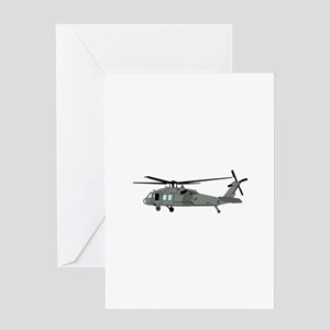 Black Hawk Helicopter Greeting Cards