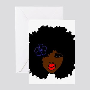 BrownSkin Curly Afro Natural Hair?? Greeting Cards