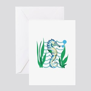 SEAHORSE DESIGN Greeting Cards