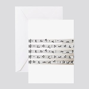 Kama Sutra Music Notes Greeting Card