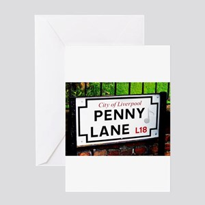 Penny Lane liverpool England Sign w Greeting Cards